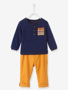 Baby Boys Outfit Set Navy / ochre
