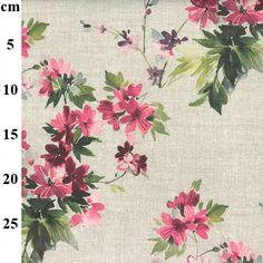 JLC0435-cm Cotton Canvas, Canvas Fabric, Canvas Prints, Spring Blossom, Simplicity Patterns, Cushion Fabric, Gorgeous Fabrics, Leaf Prints, Fabric Material