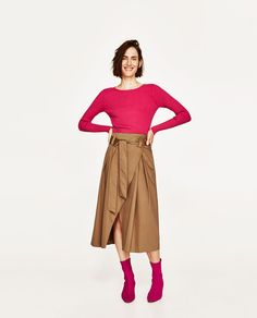 ZARA - WOMAN - CROSSOVER BELTED SKIRT