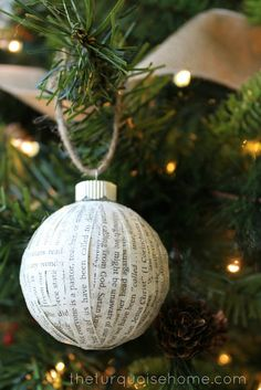 DIY Book Page Ornaments - such an easy Christmas craft! #diy #Christmas #ornament