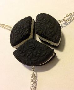 3 Piece BFF Oreo Necklace Set by JumpingForJewelry on Etsy