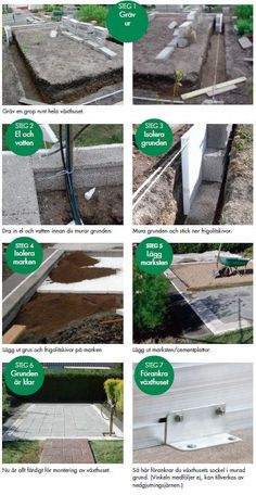 Image result for om man köper sockel till växthus hur bra behöver man grunda