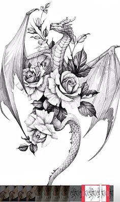 Mini Tattoos, Body Art Tattoos, New Tattoos, Sleeve Tattoos, Tattoos For Guys, Tatoos, Tattoos For Women, Dragon Tattoo For Women, Back Tattoo Women