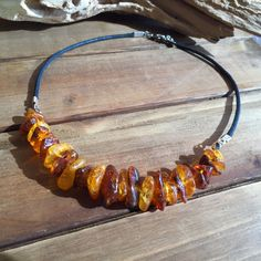 Baltic Amber Earth Surfing Necklace - Whistle