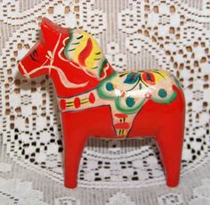 Authentic Vintage Swedish Dala Horse  by RazzysSignsAndRelics