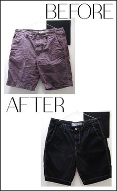 Your favourite but sun-faded summer shorts get new life with new colour!  Happy Summer.