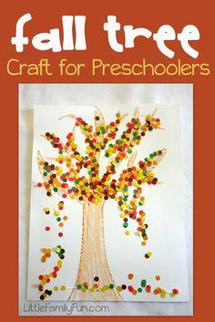 Little Family Fun: Fall Tree Craft
