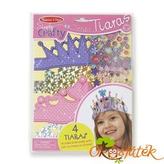 Melissa & Doug Simply Crafty Terrific Tiaras Jewelry-Making Kit Makes 4 Tiaras, Great Gift For Girls And Boys - Best For 8 Year Olds And Kite Shop, Puzzle Shop, Jewelry Making Kits, Melissa & Doug, Lany, Toys Shop, Stuffed Toys Patterns, Craft Kits, Gifts For Girls