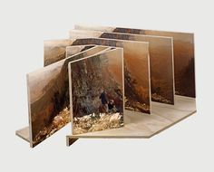 """Jason Gowans made a beautiful series called """"Five Landscape Modes"""" which shows sculpture based collages through physical objects which Jason built using found negatives, his photographs, and found images from the Internet."""
