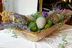 How to fill a deep, long Bread Dough Bowl, plus some lovely Lavender crafts  - How I did it.