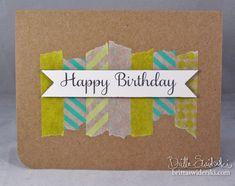 Happy Birthday Washi by Britta Swiderski