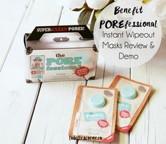 Super-Clean Pores | Benefit Cosmetics POREfessional Instant Wipe Out Masks | Review & Demo | labellesirene.ca  #pores #skincare #beauty #benefit #benefitcosmetics #porefessional #review #demo #howto