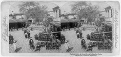 Turkish café--a street scene in Candia, Crete