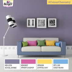Nothing can beat this noble combination of the imperial purple Royal Attire and the pop ups of pastels. #ColourChemistry