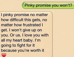 i tryied to fight for him..... he promised he wouldnt give up on us nomatter what, then it was just me fighting ;( it hurts... I miss him