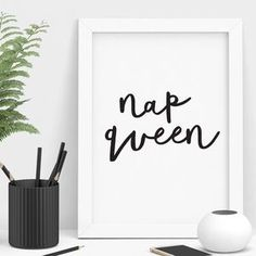 'Nap Queen' Typography Print - Whether you're buying for a friend, your partner, your mother or your daughter, it's important to get her a gift that she'll really treasure.