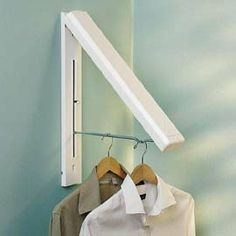 InstaHanger, Collapsible Clothes Hanger -- for the laundry/ironing! This would be lovely.