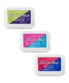 My First ColorBox® Two-Color Ink Pad - Set of Three #zulily #zulilyfinds