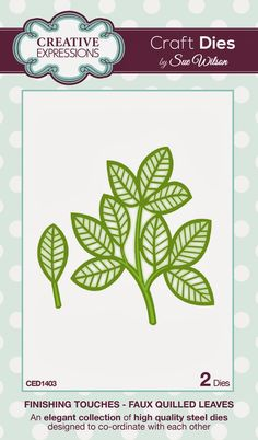 Faux Quilled Leaves ~ Finishing Touches Collection -- 2 craft dies