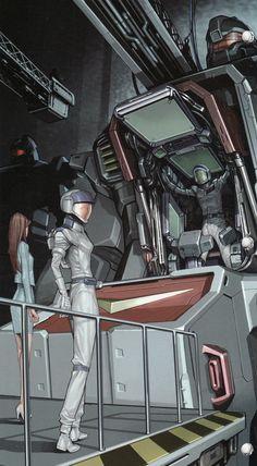 Getting into a Gundam cockpit