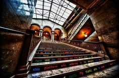 Union Station - Art on stairs by Rob Johnson