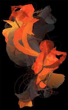 Unfold - Digital artwork of organic shapes