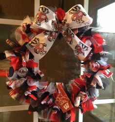 Wisconsin Badger Wreath
