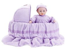 Penelope Peapod / Doll with Basket 'Picnics in the Park' by Penelope Peapod. $38.79. Based on an old fashioned, grandmother-made design. For ages 3 years and older. Fun and fashion combined - from purse to playtime in no time. Great for travel across town, around the world or for pretend play right at home. Oppenheim Toy Portfolio Platinum Medal Award Winner. Penelope Peapod is the perfect accessory and toy for every girl on the go! She is both a doll in a bassinet an...