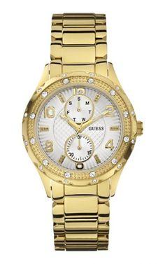 92531LPGSDA1 Relógio Feminino Dourado Guess   Guest Club