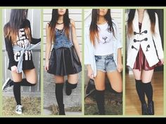 Fashion Trend: Over-the-knee High Socks (Photos) - Worldnews. Black Knee High Socks, Thigh High Socks, Thigh Highs, Knee Highs, High Knees, Black Knees, Skater Skirt, Hello October, Cute Outfits