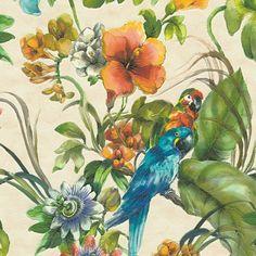 TAPET A.S CREATION PARROTS BEIGE 30015-1 - Djur & naturtapeter - Tapeter - Färg & Tapet