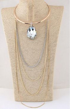 Delicate Cute Pendant Long Chain Waterdrop Necklace - Online Global Shopping Centre