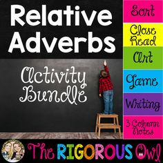 This Relative Adverb Activity Bundle provides a ton of exposure to Relative Adverbs! Students will identify Relative Adverbs, examine their purpose, and apply the use of Relative Adverbs in a variety of activities. You have officially found what your