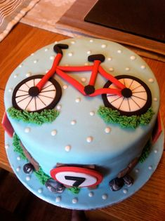 30 Best Picture of Bicycle Birthday Cake . Bicycle Birthday Cake Bet This 7 Year Old Loved His Bike Birthday Cake Bicycle Cakes In 13 Birthday Cake, 40th Cake, Dad Cake, Birthday Cake Pictures, Bicycle Cake, Bike Cakes, Bicycle Party, Bicycle Birthday Parties, Bolo Russo