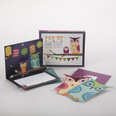 One of my favorite discoveries at WorldMarket.com: Festive Owl Pop-Up Note Cards, Set of 8