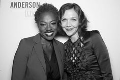 Viola Davis and Maggie Gyllenhaal in the 'Anderson Live' Photo Booth  #AndersonLive @andersontv