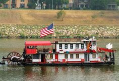 Sternwheeler On The Kanawha River, Chas., WV