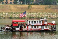 Sternwheeler On The Kanawha River, Chas., WV