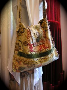 Bohemian Vagabond Bag nomadic tattered hippie bag handmade by Dede of GrandmaDede