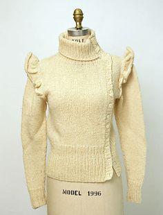 Sweater, Perry Ellis, fall/winter 1981-82, American, wool