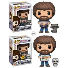 Buy Bob Ross with Raccoon Funko Pop! Vinyl from Pop In A Box US, the Funko Pop Vinyl shop and home of pop subscriptions. Bob Ross, Baby Raccoon, Rocket Raccoon, Happy Little Trees, The Joy Of Painting, Figurine Pop, Soft Spoken, Wavy Bob Hairstyles, Thing 1