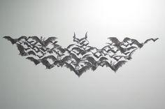 Batman logo ... made from bats!