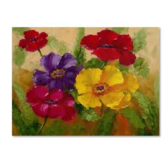 'Flowers' by Rio Painting Print on Canvas