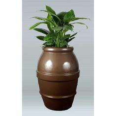 "Allied Molded Products Round Pot Planter Size: 32"" H x 34"" W x 34"" D, Color: Dove Gray"