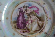 C T Altwasser Silesia Germany Lusterware Portrait Tray and 2 Dishes 98   eBay