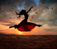 Photo about Dramatic image of a woman jumping above the ocean at sunset, silhouette. Image of ballet, jumping, drama - 7400329 Quotes Enjoy Life, Quote Life, Psalm 30, Isaiah 26, The Dancer, Fred Astaire, Lets Dance, We Heart It, Heart Beat