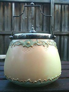 Antique Royal Worcester Biscuit Barrel - 1898 - Rare!