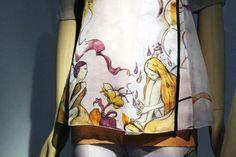 Miuccia Prada Ensemble, spring/summer 2008 Lavender silk organza printed with illustrations by James Jean