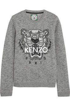 I know everyone has the Kenzo tiger sweatshirt, but I still want one... #grey #fashion