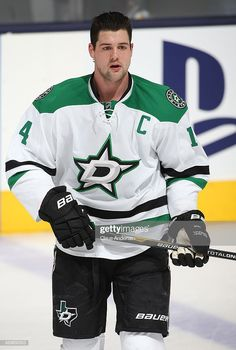 Jamie Benn of the Dallas Stars skates during the warm-up prior to playing against the Toronto Maple Leafs during an NHL game at the Air Canada Centre on December 2013 in Toronto, Ontario, Canada. Get premium, high resolution news photos at Getty Images Stars Hockey, Hockey Teams, Hockey Players, Air Canada Centre, Nhl Games, National Hockey League, Toronto Maple Leafs, Dallas, Warm
